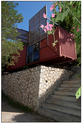 Architectural firm builds their office in Jamaica using ISBU shipping containers.